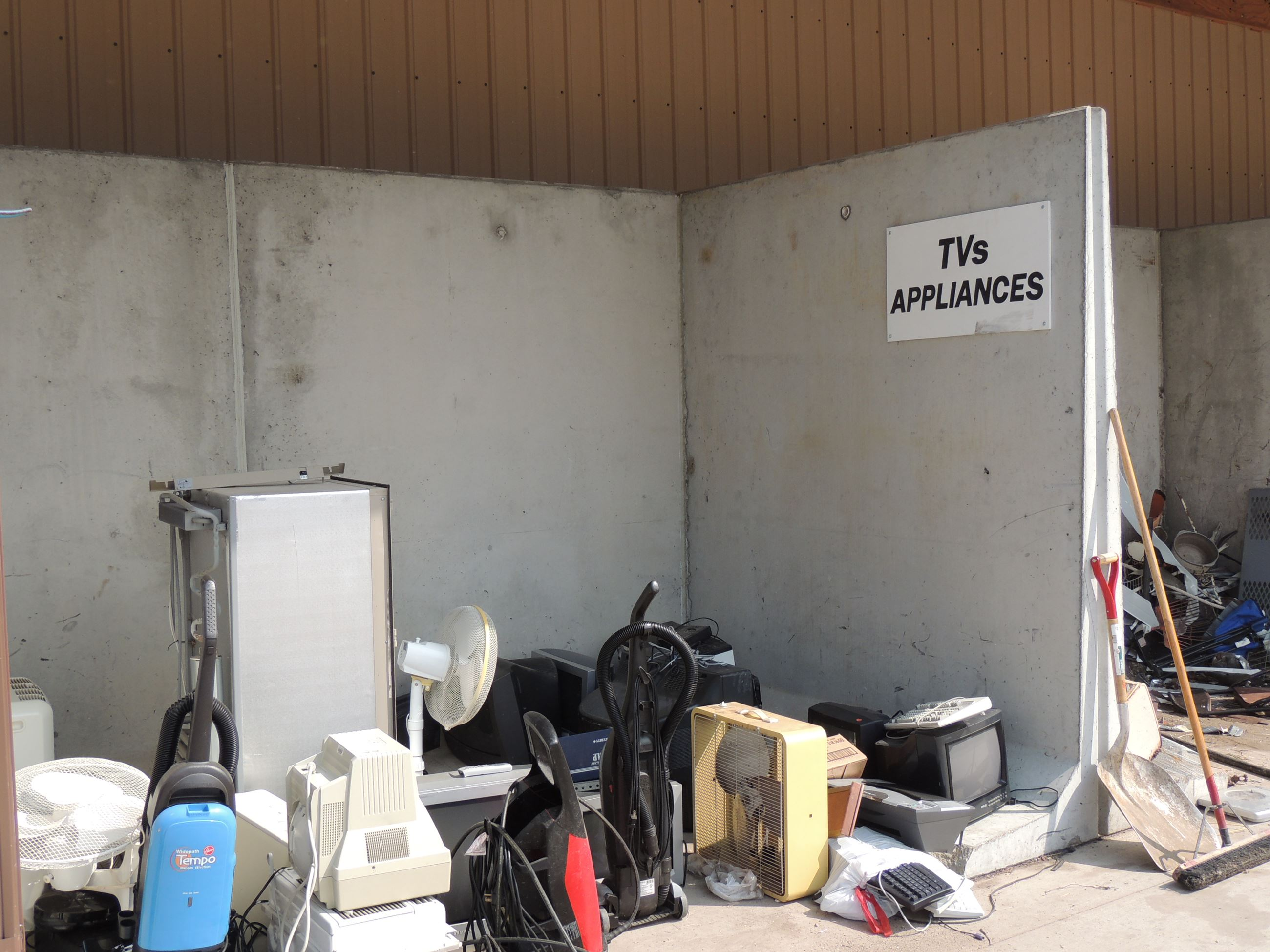 TVs and Appliances Drop-Off Area