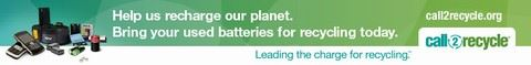 Help us recharge our planet. Bring your used batteries for recycling today.