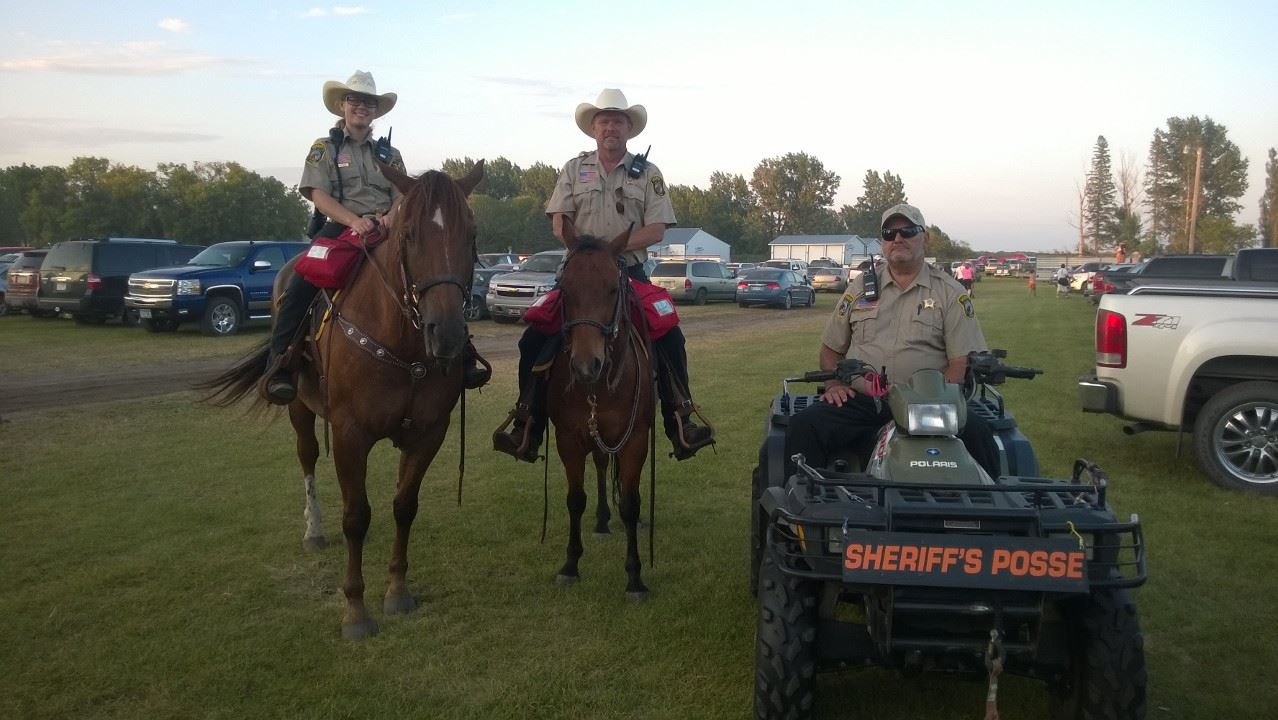 Polk County Mounted Posse on Horses and an ATV